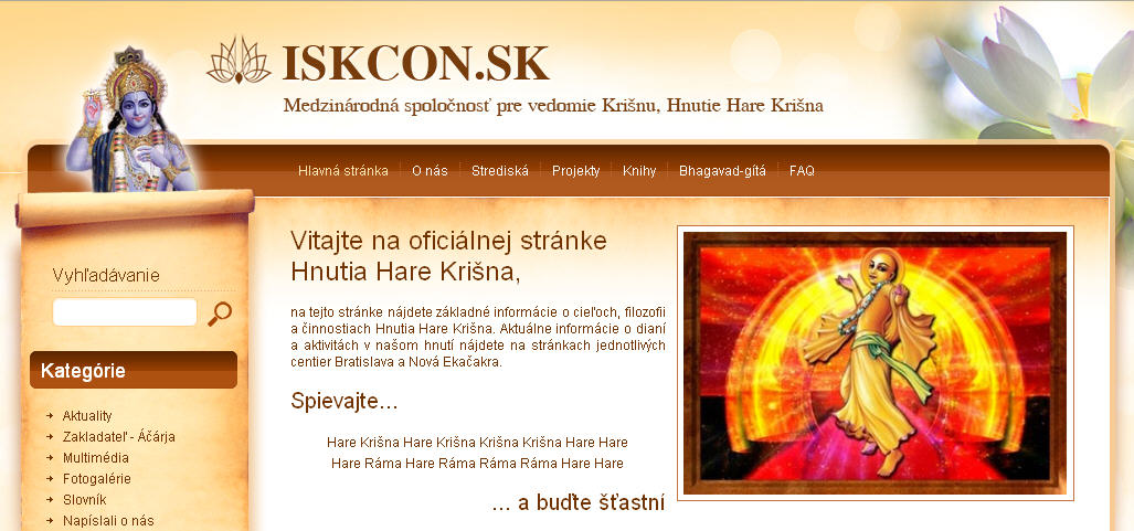 ISKCON Bratislava Website