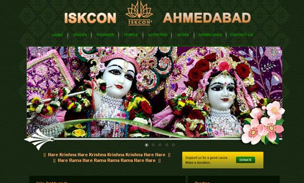 ISKCON Ahmedabad Website