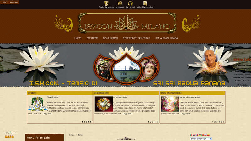 ISKCON Bergamo Website