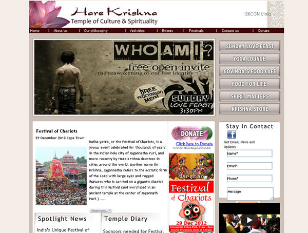 ISKCON Cape Town Website