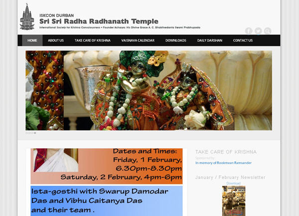 ISKCON Durban Website