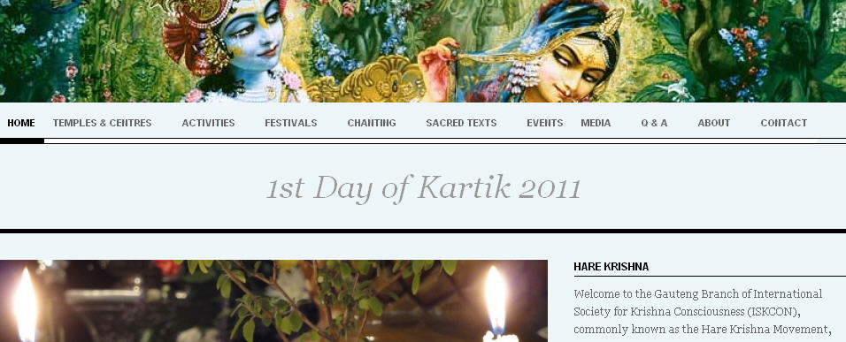 ISKCON Gauteng Website