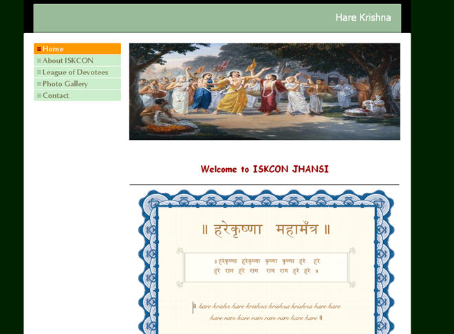 ISKCON Jhansi Website