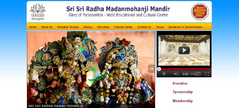 Iskcon New Mumbai Website