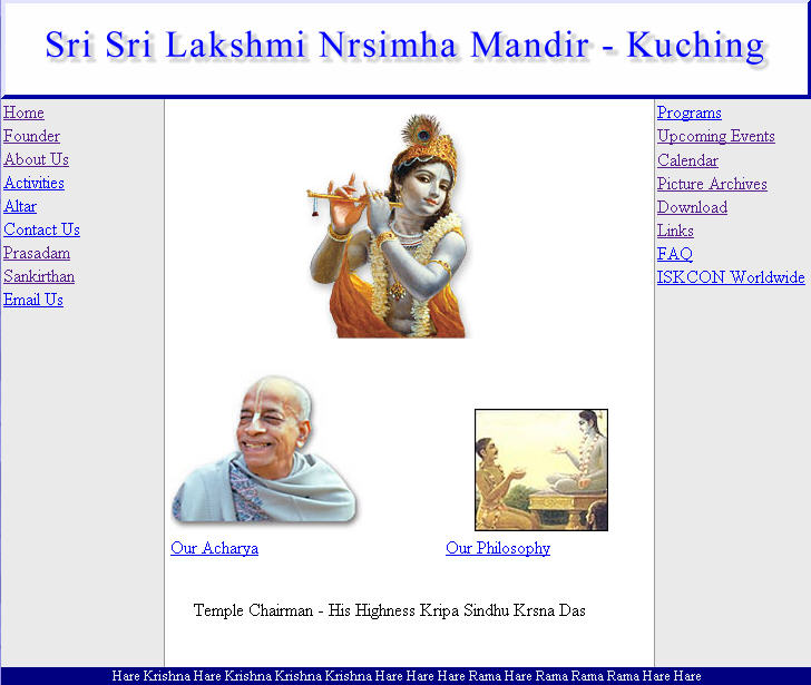 ISKCON Kuching Website
