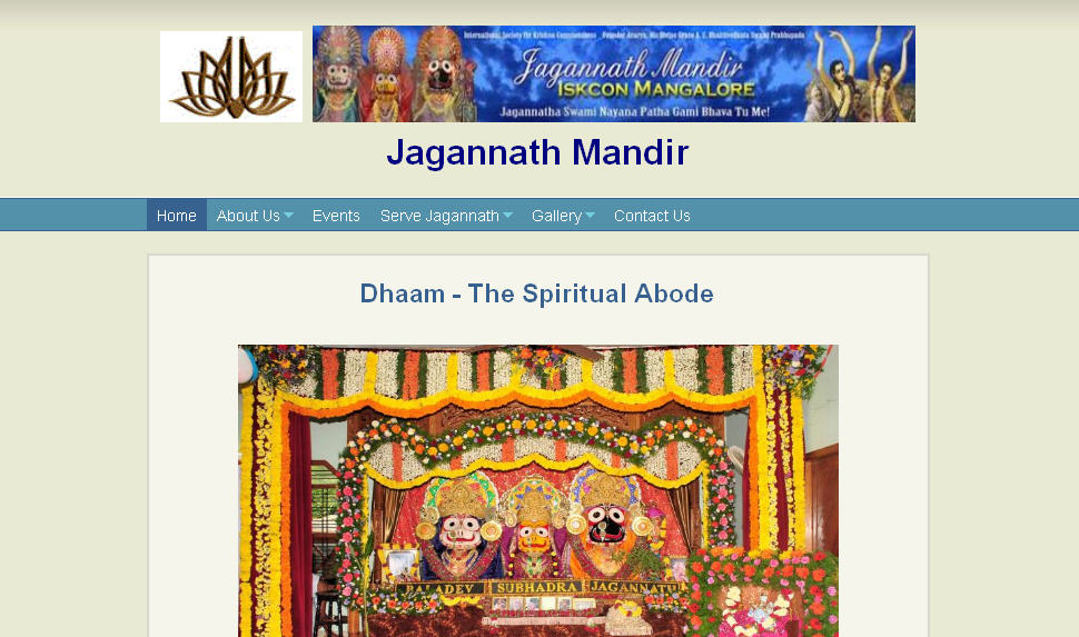 ISKCON Mangalore Website