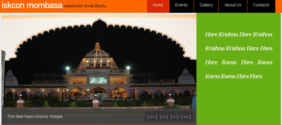 ISKCON Mombasa Website