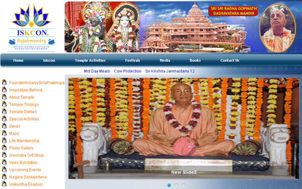 Iskcon Rajahmundry Website