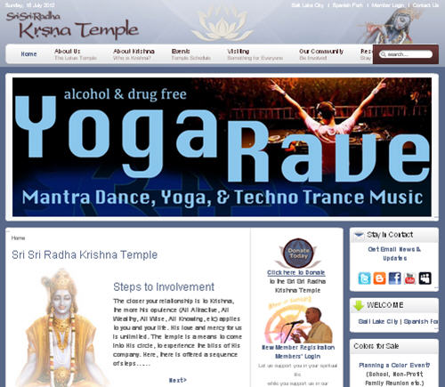 Iskcon Spanish Fork Website