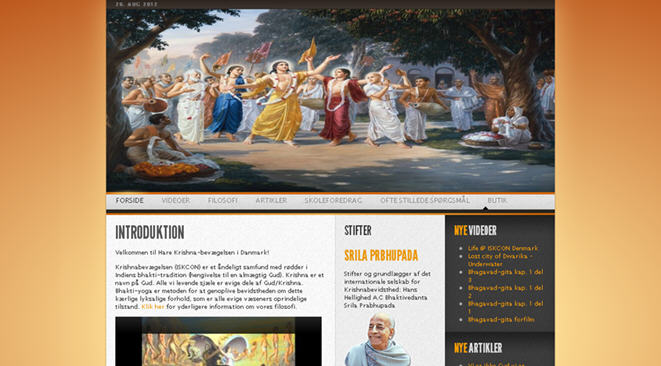 ISKCON Vanlose Website