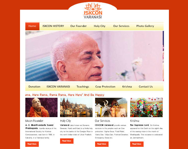 ISKCON Varanasi Website