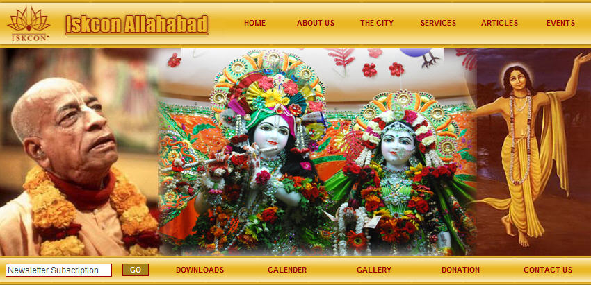 ISKCON Allahabad Website