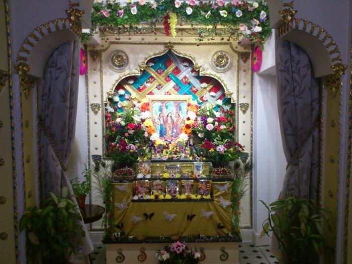 ISKCON Manchester main altar