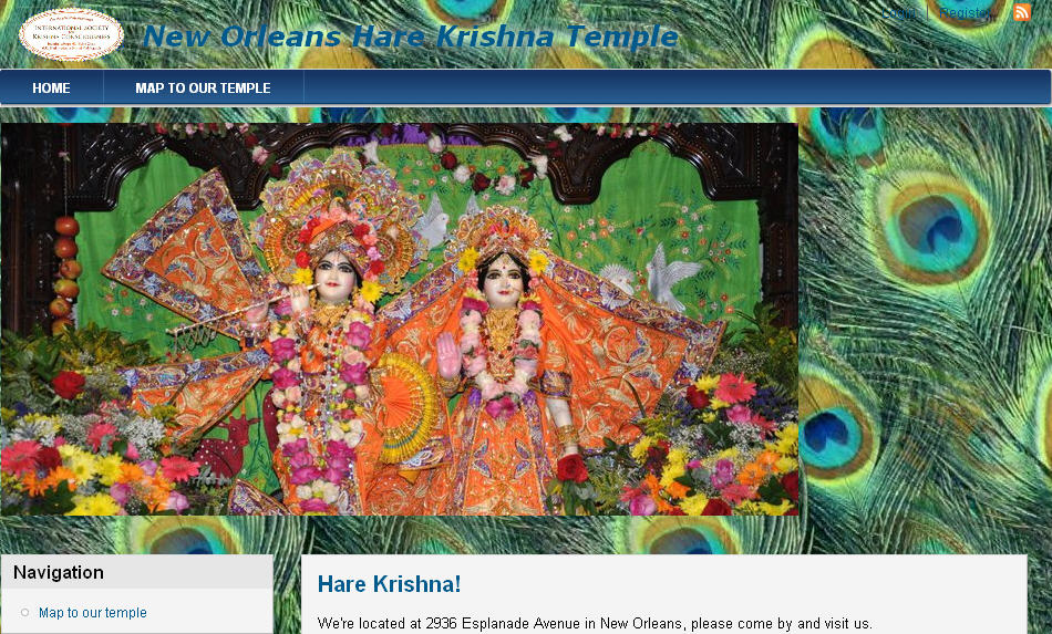 ISKCON New Orleans Website