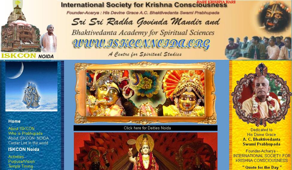 ISKCON Noida Website