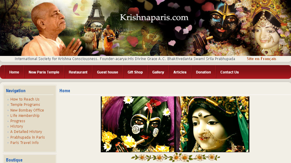 ISKCON Paris Website