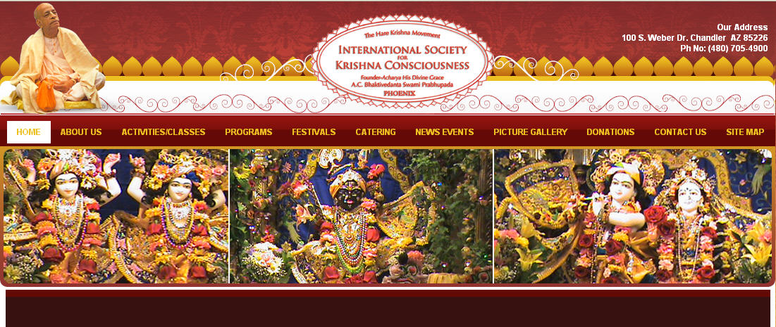 ISKCON Phoenix Website