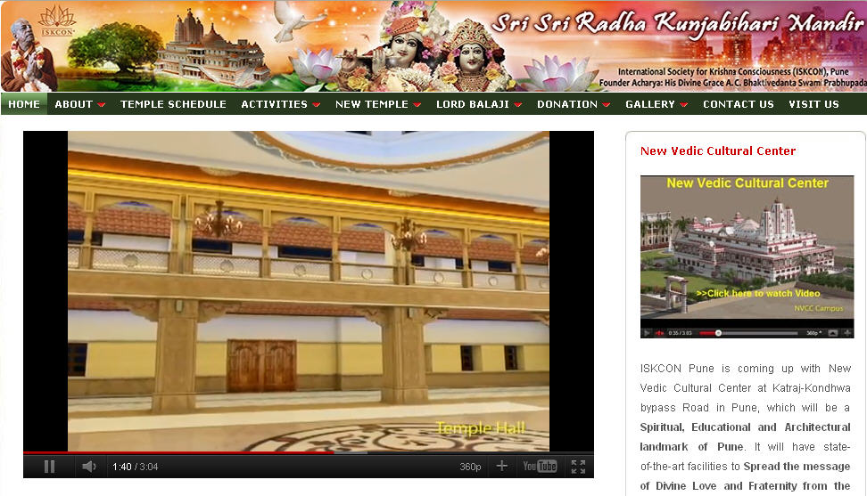 Iskcon Pune Website
