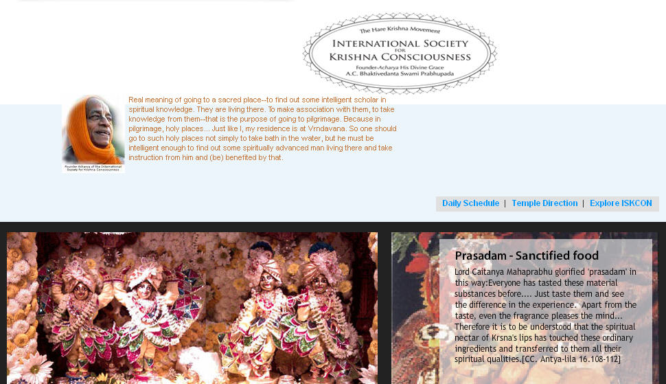 Iskcon Saint Louis Website