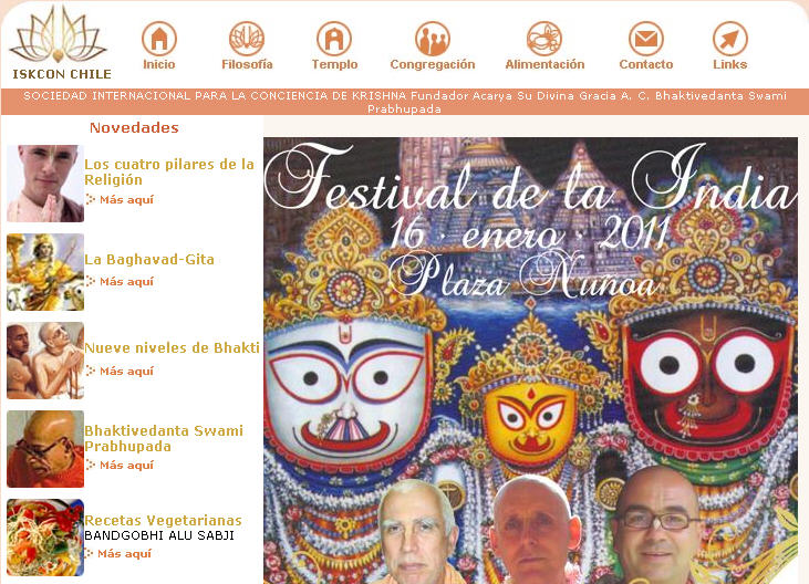 Iskcon Santiago Website