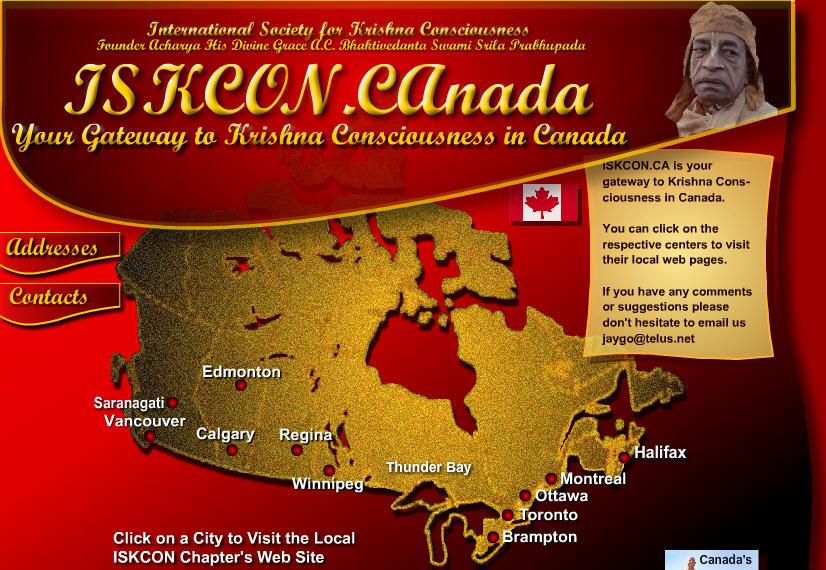 Iskcon Vancouver Website
