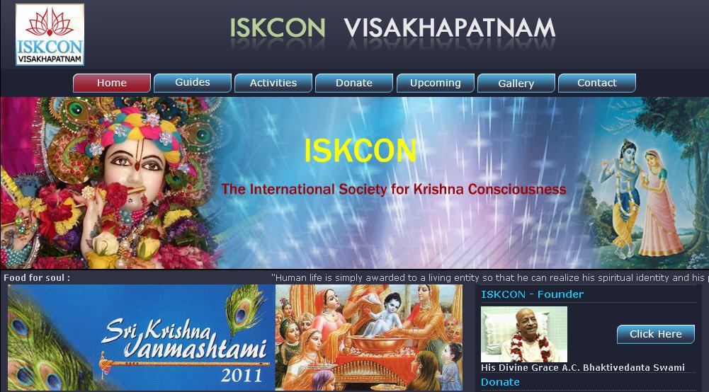 Iskcon Visakhapatnam Website