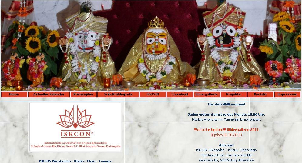 Iskcon Wiesbaden Website