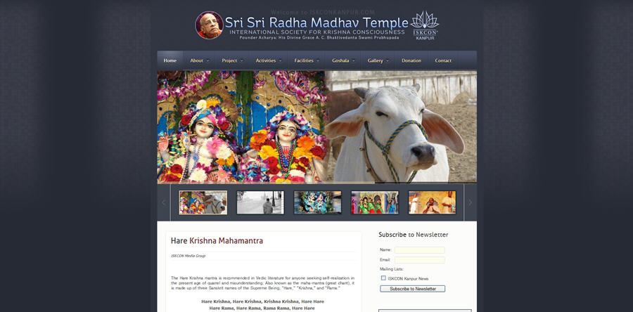 ISKCON Kanpur Website