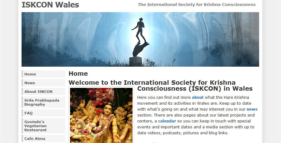 ISKCON wales Website