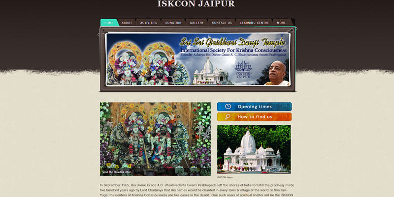 ISKCON Jaipur Website