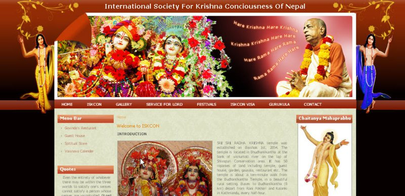 ISKCON Nepal Website