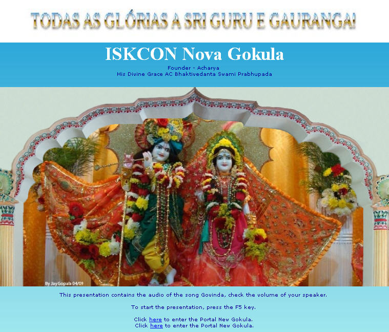 ISKCON Nova Gokula Website