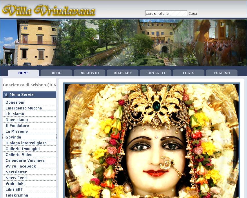 Iskcon Villa Vrindavan Website