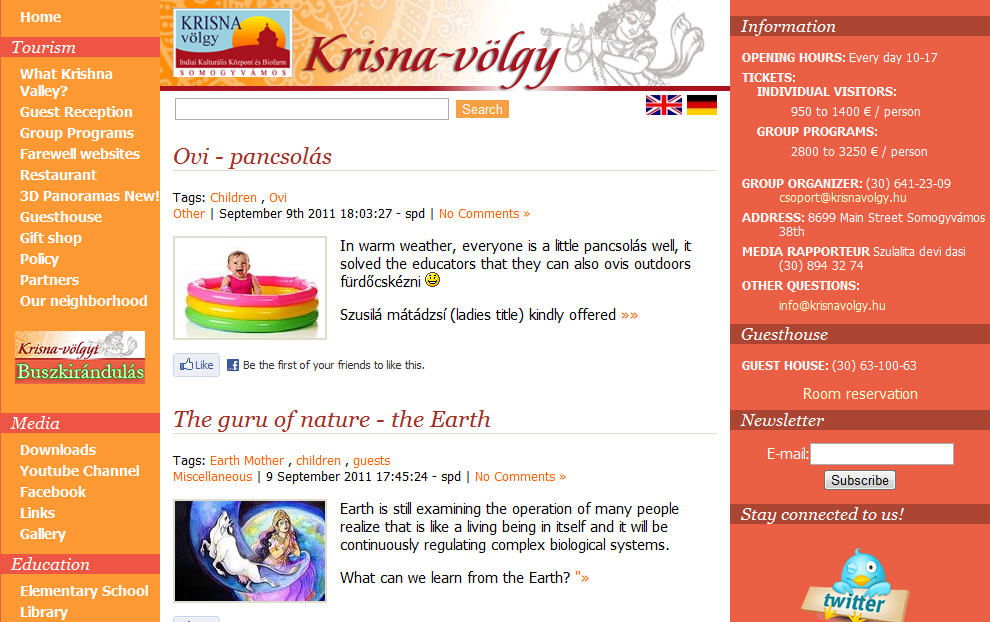 Krishna Vally Website