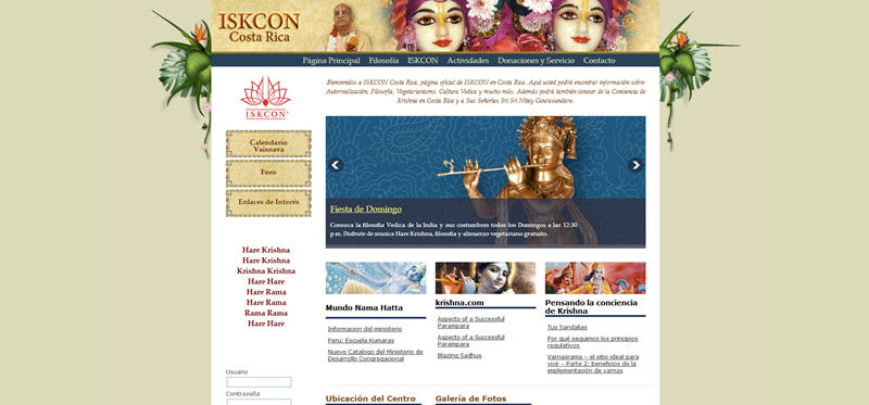 ISKCON Costa Rica Website