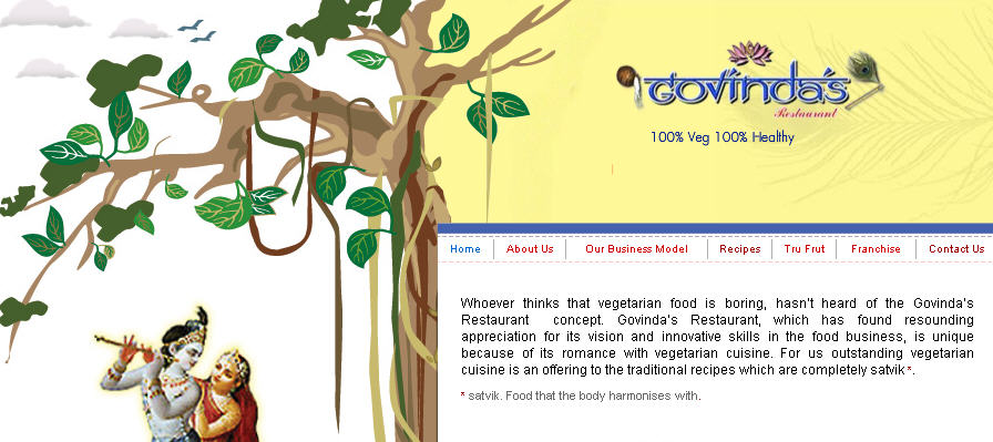 ISKCON Dubai Govindas Website