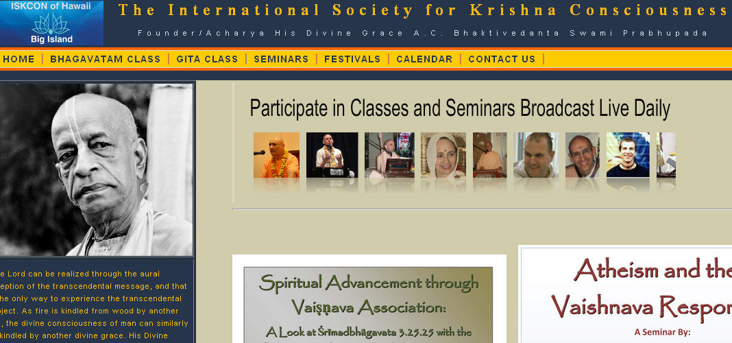 ISKCON Hilo Website