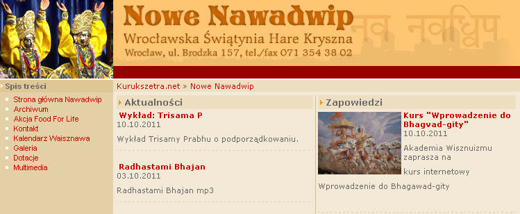 ISKCON Wroclaw Website