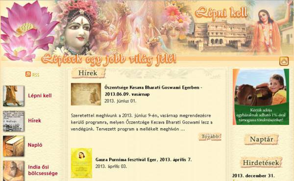 ISKCON Eger Website