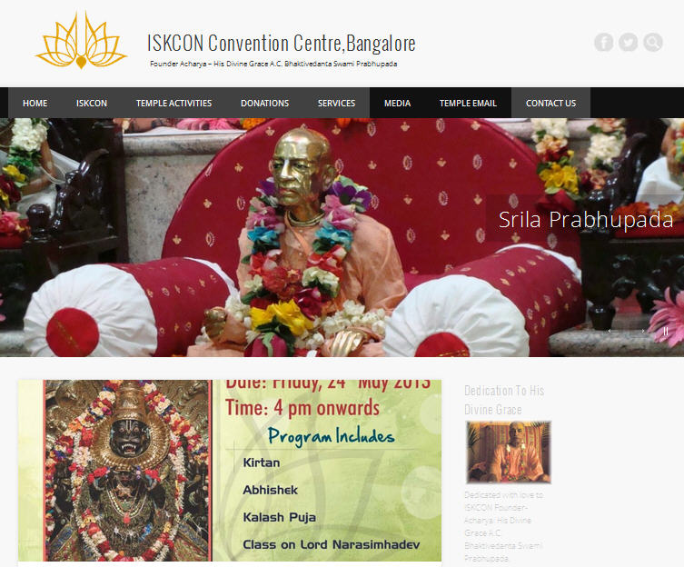 ISKCON Bangalore Website