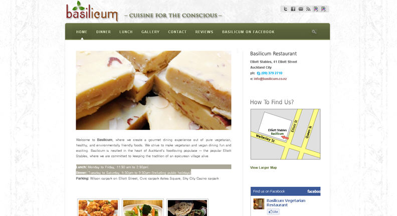 Basilicum Restaurant Website