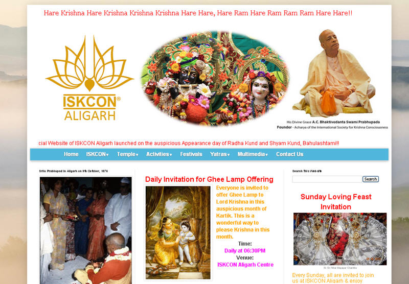 ISKCON Aligarh Website