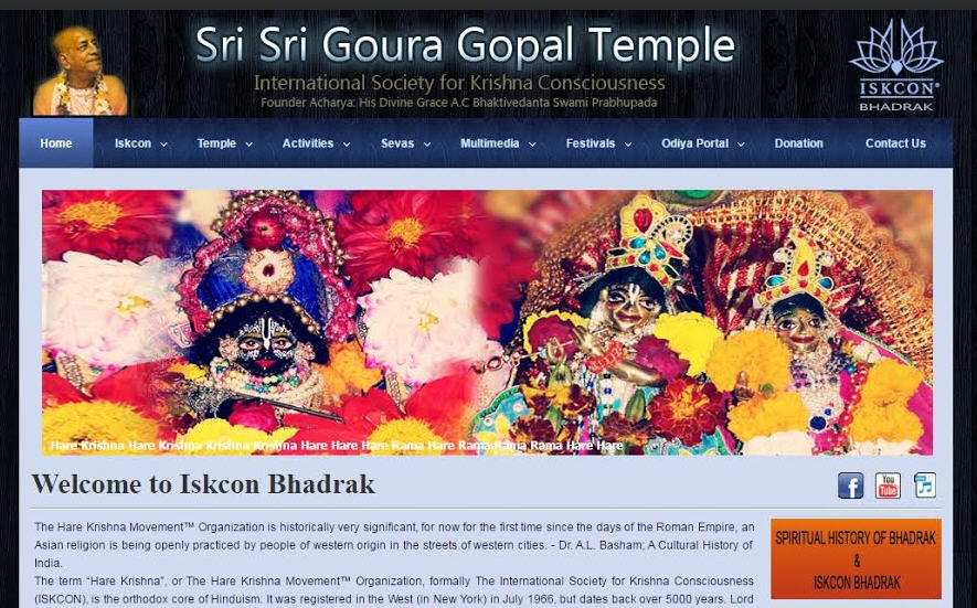 ISKCON Bhadrak Website