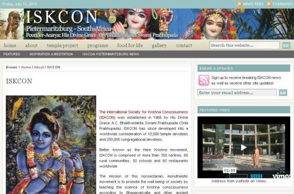 ISKCON Pietermaritzburg Website