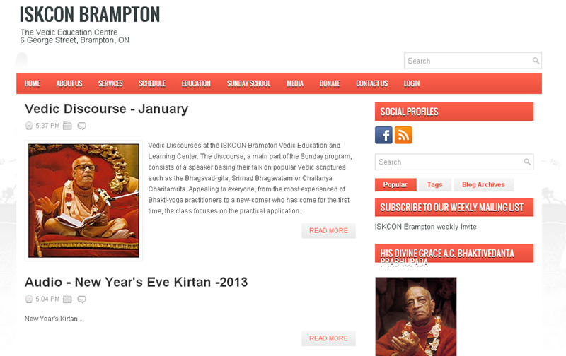 ISKCON Brampton Website