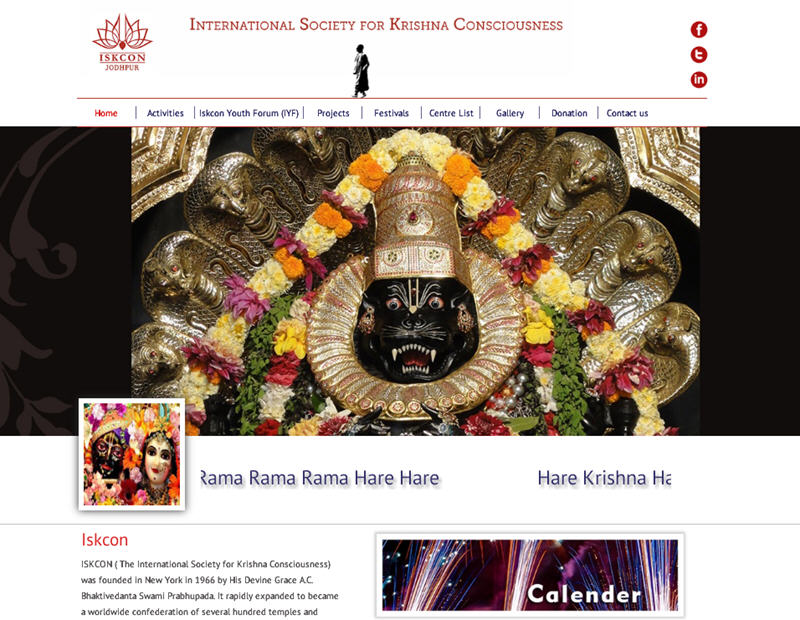 ISKCON Jodhpur Website