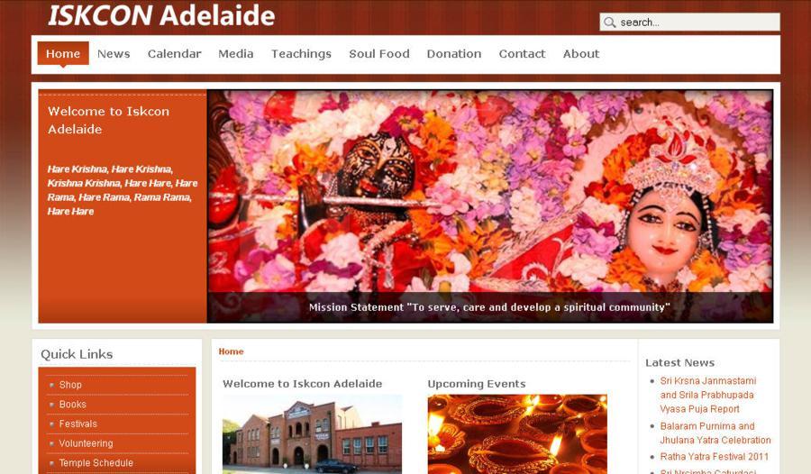 ISKCON Adelaide Website