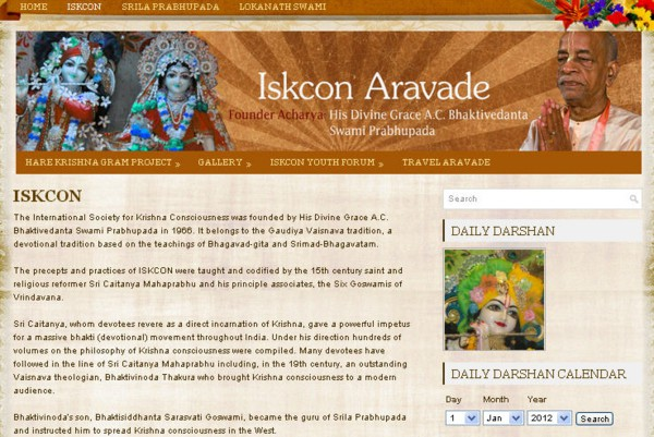 ISKCON Aravade Website