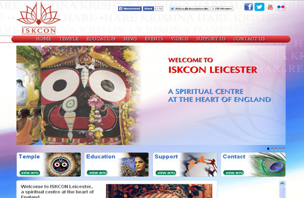 ISKCON Leicester Website