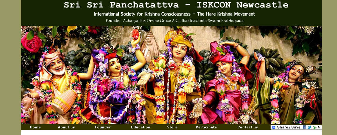 ISKCON Newcastle Website